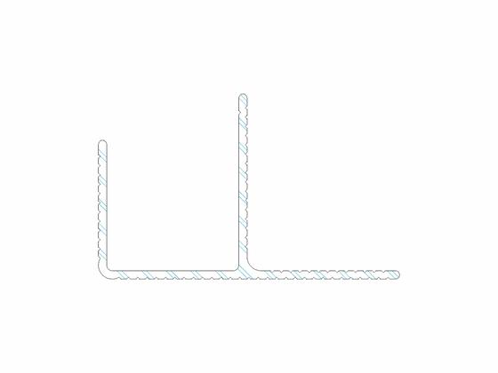 """Počáteční a koncový okopový hliníkový profil Elox černý """"F"""", 40/65 mm, délka 6 m Terrace"""