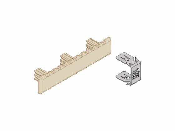 Set - koncové krytky (10ks) + svorky (20ks), lískový ořech, Terrace