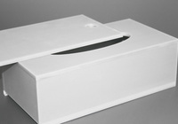 Box na kapesníky detail otevírání