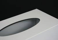 Box na kapesníky bílý - detail