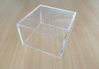 Lepený čirý plexisklový box