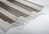 Trapézová polykarbonátová deska - povrch krupička